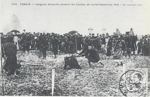 Những chiến sĩ cách mạng bị xử trảm trong các biến cố từ  tháng 7 đến tháng 9 năm  1908 tại Hà Nội và các Tỉnh