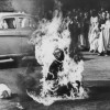 10/6/1963, Saigon-Vietnam, Malcolm W. Browne, USA, The Associated Press. Buddhist monk Thich Quang Duc sets himself ablaze in protest against the persecution of Buddhists by the South Vietnamese government.