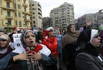 Biểu tình chống chính phủ tại Cairo 30/1/2011. Ảnh Tara whitehill, AP