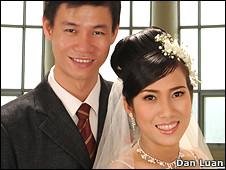 Ảnh cưới của anh Nhựt, chị Tuyền 2 năm trước. Nguồn DL