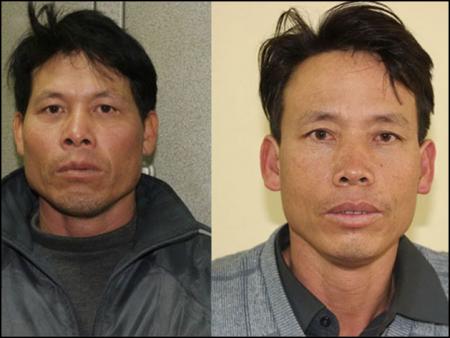Ông Đoàn Văn Vươn (trái) và Đoàn Văn Quý (phải). Ảnh: Người Lao Động