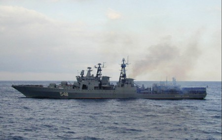 Tàu khu trục chống ngầm Đô đốc Panteleyev là một trong những chiến hạm chủ lực của Hạm đội Thái Bình Dương Nga - Ảnh: Worldweapons
