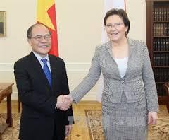 Gặp chủ tịch QH Ba Lan, bà Ewa Kopacz