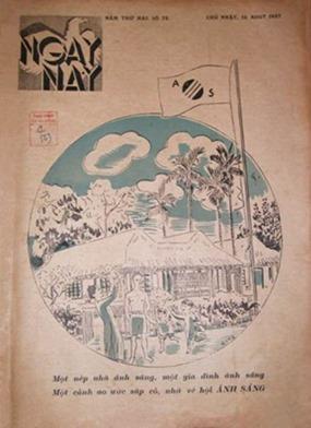 Ngày nay số 72, 15 Aout 1937. Ảnh: Tư liệu của BVN do Nhóm điện toán báo Phong hóa – Ngày nay cung cấp