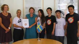 """Blogger Lê Thiện Nhân nói buổi gặp mặt tại đại sứ quán Thụy Điển diễn ra một cách """"thân thiện và cởi mở"""""""