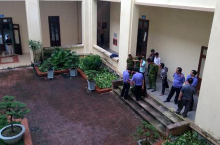 Trụ sở UBND Thành phố Thái Bình, nơi hung thủ gây án. Ảnh: CTV