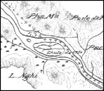 Hình 5:Bản đồ tìm thấy tại Vụ lưu trữ Bộ ngoại giao Pháp
