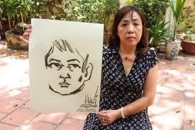 Bà Dương Hà và bức chân dung tự họa của chồng