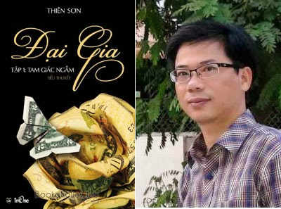 """Bìa """"Đại gia"""" và nhà văn Thiên Sơn"""
