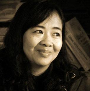 Chị Nguyễn Thị Hiền, vợ của Luật sư Lê Quốc Quân, ảnh chụp hôm 30/12/2012. Photo by Nguyễn Lân Thắng