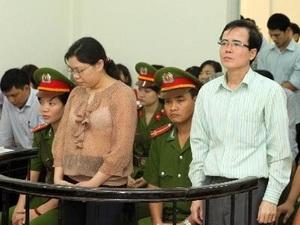 Luật sư Lê Quốc Quân trong phiên tòa sáng nay. Ảnh TTXVN