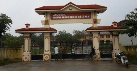 Trường THCS Lê Hóa - nơi xảy ra vụ nổ bom