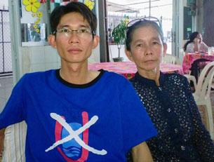 Đinh Nhật Uy và mẹ