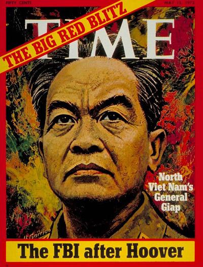 Tướng Giáp từng lên bìa tạp chí Time năm 1972