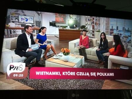 """Ảnh chụp từ màn hình, chương trình """"Pytanie na śniadanie"""""""
