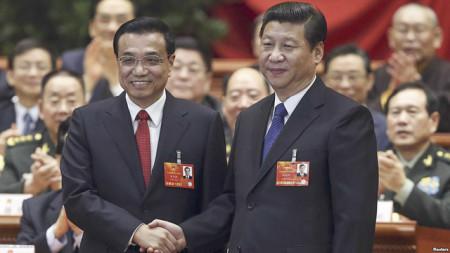 Hình (Reuters): Chủ Tịch Tập Cận Bình và Thủ Tướng Lý Khắc Cường.