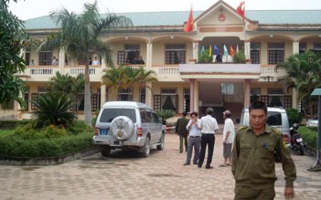 UBND xã Nghi Long, nơi xảy ra vụ nổ mìn