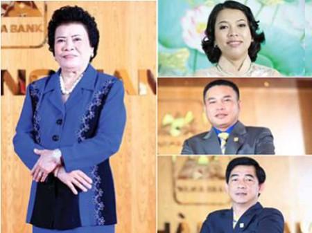 Dù bà Tư Hường không có mặt trong HĐQT nhưng những thành viên trong gia đình bà Hường đảm nhận các vị trí chủ chốt tại NamABank