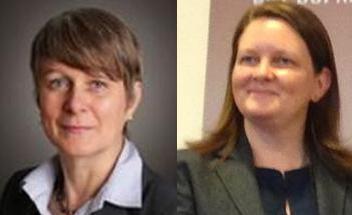 Đại sứ Đức Jutta Frasch (trái) và Phó đại sứ Anh Lesley Craig