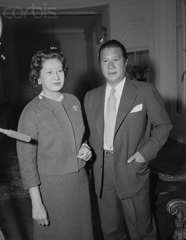 Vua Bảo Đại và hoàng hậu Nam Phương năm 1953