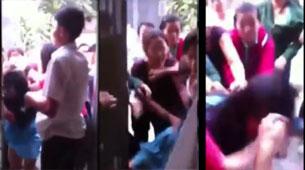 Clip video các bloggers bị đánh hội dồng. Screen capture
