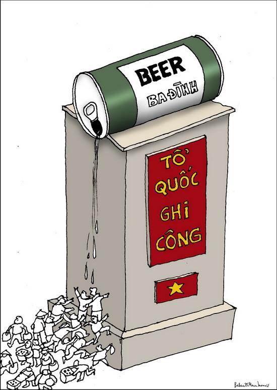 Đài tưởng niệm beer ở TP Biên Hòa