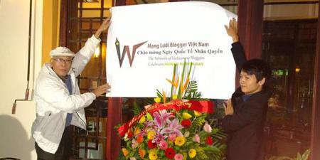 10-12, Mạng Lưới Blogger VN chính thức ra mắt và tổ chức kỷ niệm Ngày Quốc tế Nhân quyền tại Hà Nội