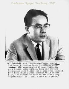 GS Nguyễn Văn Bông năm 1967. Ảnh AP. Nguồn Flickr