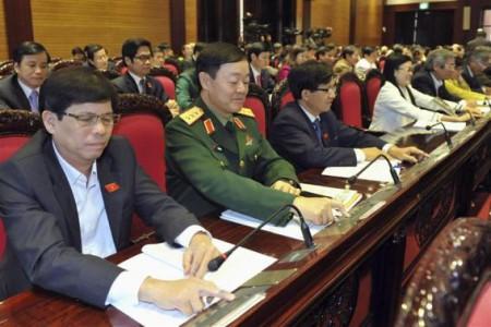 QH bấm nút thông qua hiến pháp. Ảnh Reuters