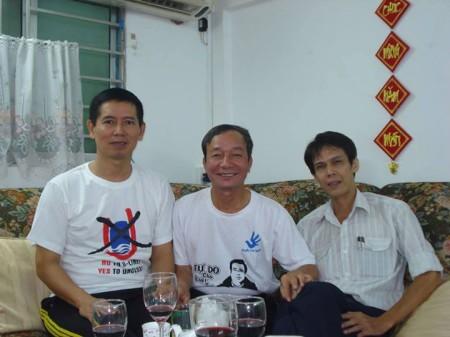 Lê Thăng Long, Phạm Chí Dũng và tác giả bài viết