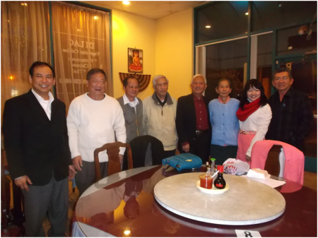 Bà Nguyễn  Thị Kim Liên và các thân hữu San Jose ngày 8-01-14