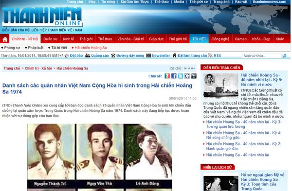 TN online danh sach quan nhan VNCH