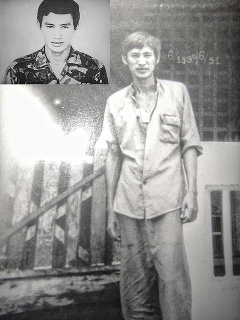 Hình (TTT): Ông Trần Tử Thanh trước  và sau 15 năm tù (1990)