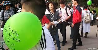 Blogger Hà Nội tập trung tại công viên Thống Nhất, công khai tổ chức các hoạt động để quảng bá, phát huy và vinh danh các giá trị của Nhân Quyền.