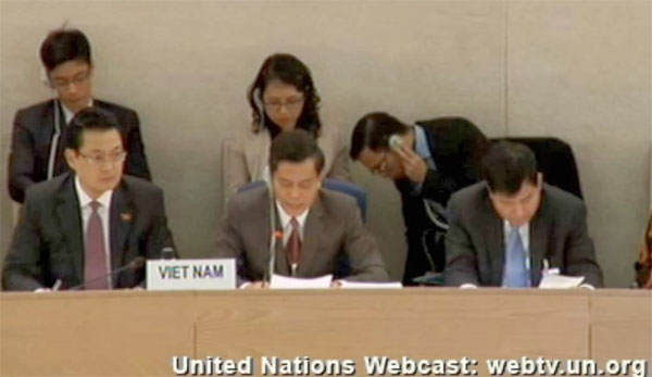 Thứ trưởng ngoại giao VN Hà Kim Ngọc trong phiên điều trần