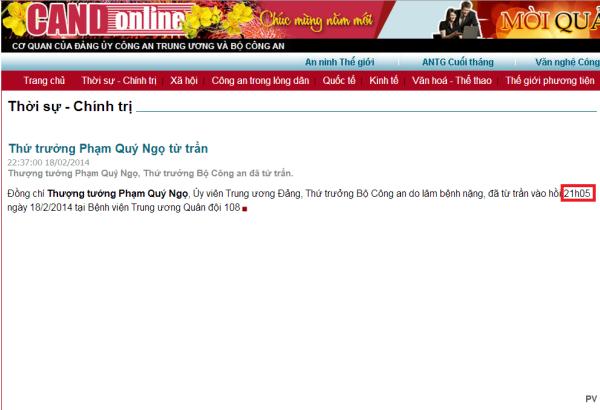 Tuong Ngo CAND