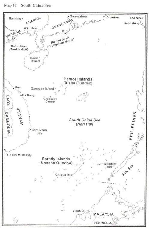 Bản Đồ 19: Biển Nam Hải