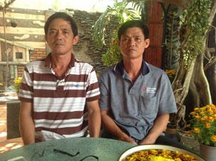 Hai anh Huỳnh Anh Tú và Huỳnh Minh Trí. Ảnh: Bùi Hằng gửi RFA