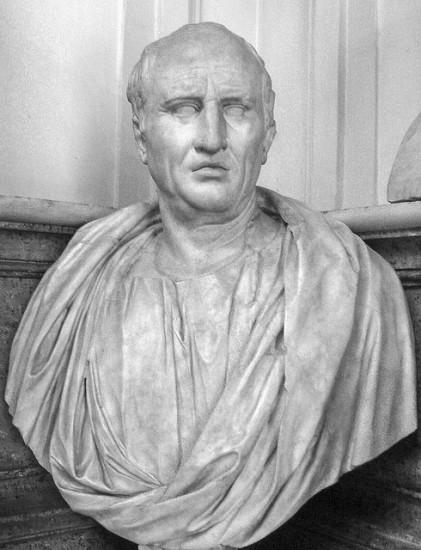 Hình (Musei Capitolini): Marcus Tullius Cicero, chánh khách lỗi lạc La Mã (106 BC – 43 BC).