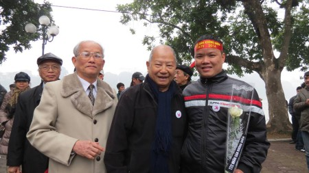 Một số nhân sĩ trí thức có mặt trong buổi tưởng niệm hôm chủ nhật 16/2. Ảnh FB