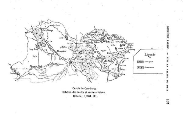 Hình 6: Bản đồ các khu rừng và núi đá có rừng (Nguồn: Paul Marabail)