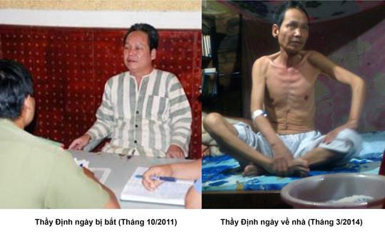 Thầy Đinh khi bị bắt và hiện tại