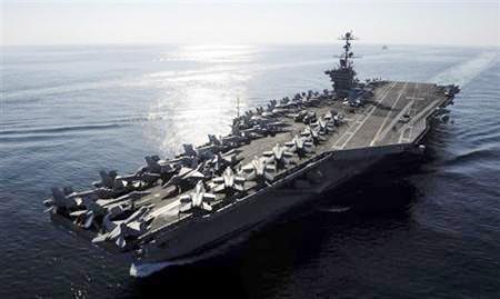 Một chiếc tàu sân bay của Mỹ - Ảnh: Reuters