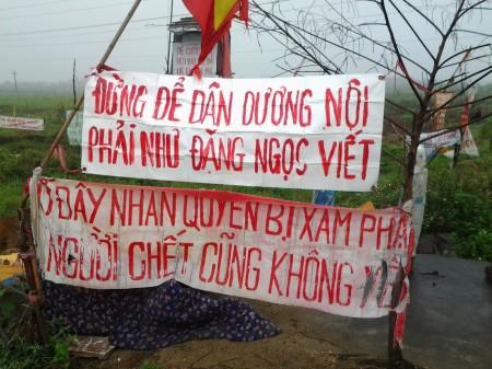 Dương Nội giăng khẩu hiệu giữ đất