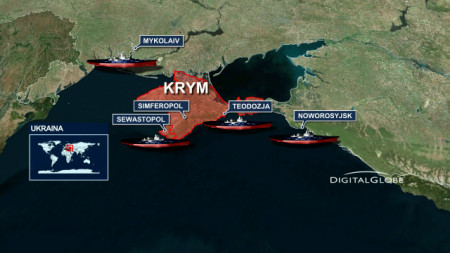 Bản đồ Crimea (hay Krym)