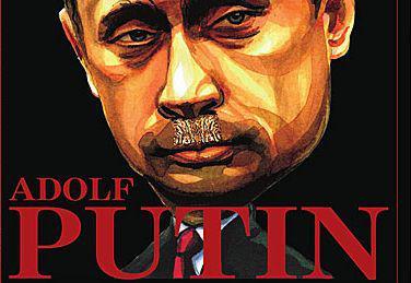 Putin trong những ngày qua bị nhiều người ví như Hitler. Ảnh polishexpress.co.uk