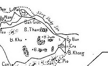 Hình 7: Ảnh phóng lớn khu vực thác Bản Giốc (Nguồn: Paul Marabail)
