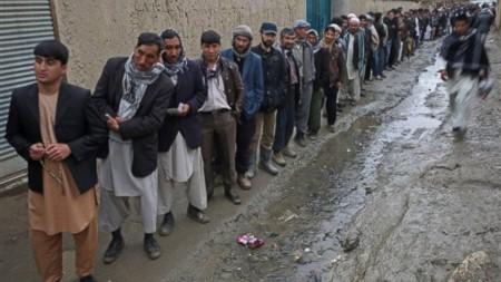 Bầu cử ở Afghanistan. Ảnh AP