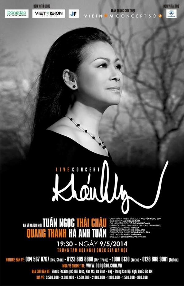 """""""Live concert Khánh Ly"""" diễn ra một đêm duy nhất 9.5.2014 tại Hà Nội"""
