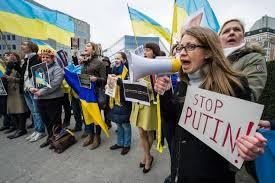 Ucraine phản đối Putin (Ảnh mang tính minh họa)